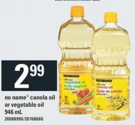 No Name Canola Oil Or Vegetable Oil - 946 mL