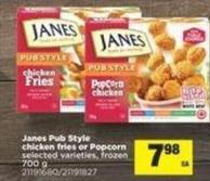 Janes Pub Style Chicken Fries Or Popcorn - 700 g