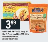 Uncle Ben's Rice 400-460 G Or Old El Paso Meal Kits 227-510 G