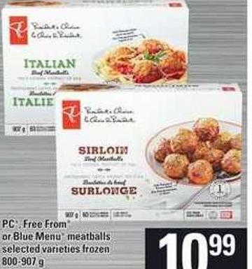 PC - Free From or Blue Menu Meatballs - 800-907 g