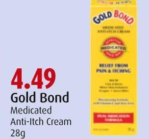 Gold Bond Medicated Anti-itch Cream 28g