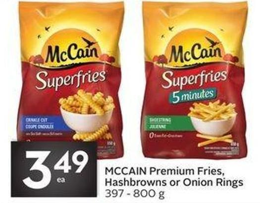 Mccain Premium Fries - Hashbrowns or Onion Rings