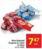 Mini Babybel Original or Light 12-pack