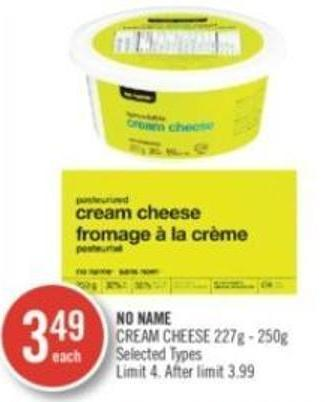 No Name Cream Cheese 227g - 250g