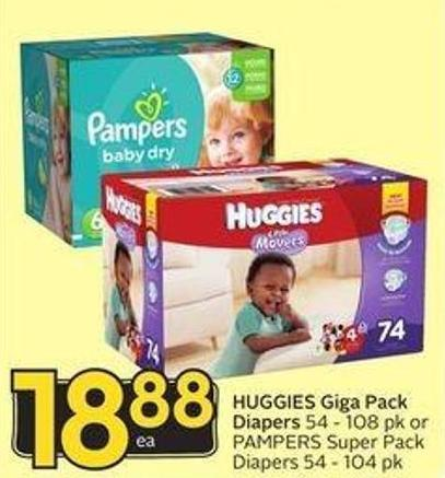 Huggies Giga Pack Diapers
