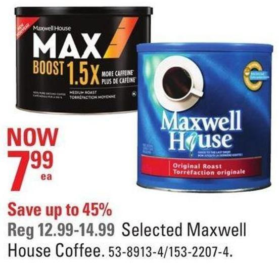 Selected Maxwell House Coffee