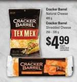 Cracker Barrel Natural Cheese - 400 G Cracker Barrel Shredded Cheese - 250 – 320 G