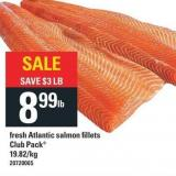 Fresh Atlantic Salmon Fillets Club Pack