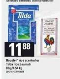 Rooster Rice Scented Or Tilda Rice Basmati - 8 Kg/4.54 Kg