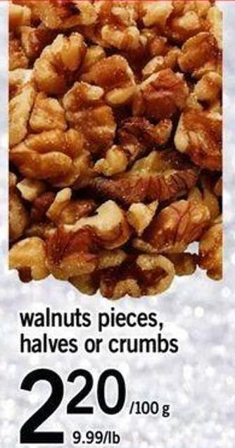 Walnuts Pieces - Halves Or Crumbs - 220/100 G