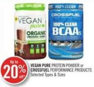 Vegan Pure Protein Powder or Crossfuel Performance Products