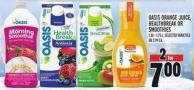 Oasis Orange Juice - Healthbreak Or Smoothies 1.36 - 1.75 L