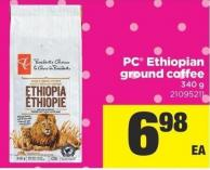 PC Ethiopian Ground Coffee - 340 g