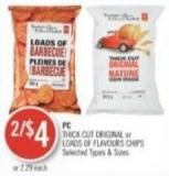 PC Thick Cut Original or Loads Of Flavours Chips