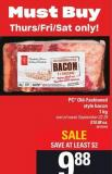 PC Old-fashioned Style Bacon - 1kg