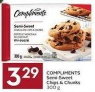 Compliments Semi-sweet Chips & Chunks 300 g