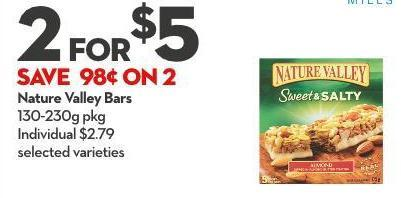Nature Valley Bars 130-230g Pkg