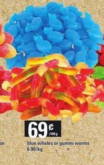 Blue Whales Or Gummi Worms
