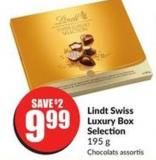 Lindt Swiss Luxury Box Selection 195 g