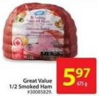 Great Value 1/2 Smoked Ham