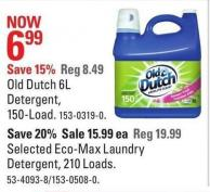Old Dutch 6l Detergent - 150-load