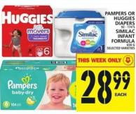 Pampers Or Huggies Diapers Or Similac Infant Formula