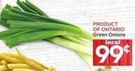 Green Onions Product of Ontario