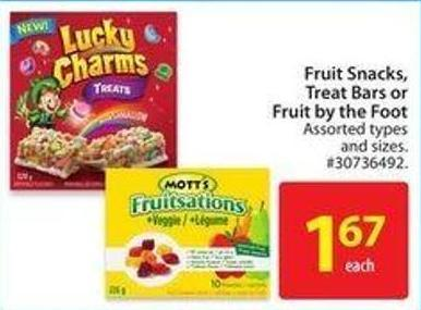 Fruit Snacks.treat Bars or Fruit By The Foot