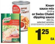 Knorr Sauce Mix - 22-51 g Or Swiss Chalet Dipping Sauce - 284 mL