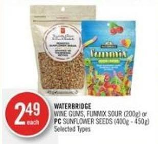 Waterbridge Wine Gums - Funmix Sour (200g) or PC Sunflower Seeds (400g - 450g)