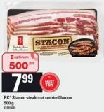 PC Stacon Steak-cut Smoked Bacon - 500 g