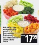 Fruit Platter - 2.2 Kg Or Large Vegetable Platter - 1.8 Kg