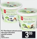 PC Plant-based Cultured Coconut Milk Yogurt Alternative - 500 G