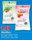 Montbec No Sugar Added Candy