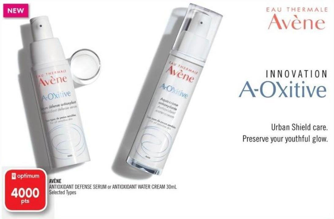 Avène Antioxidant Defense Serum or Antioxidant Water Cream