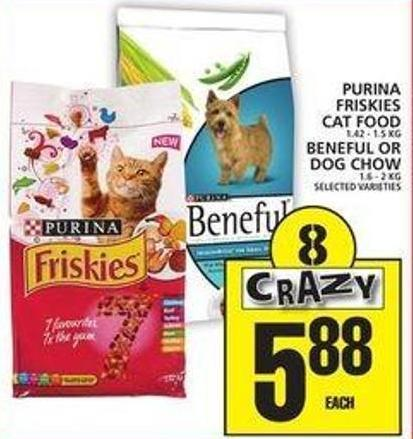 Purina Friskies Cat Food Or Beneful Or Dog Chow