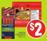 Pepperettes On-the-go 60 g Shopsy's Deli-fresh Wieners 375 g