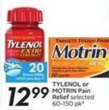 Tylenol or Motrin Pain Relief - 20 Air Miles Bonus Miles