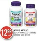 Webber Naturals Lutein or Omega-3 Capsules