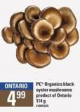 PC Organics Black Oyster Mushrooms - 114 G
