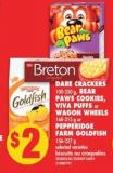 Dare Crackers - 100-250 g - Bear Paws Cookies - Viva Puffs or Wagon Wheels - 168-315 g or Pepperidge Farm Goldfish - 156-227 g
