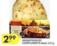 Sensations By Compliments Naan 340 g