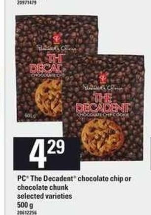 PC The Decadent Chocolate Chip Or Chocolate Chunk - 500 g
