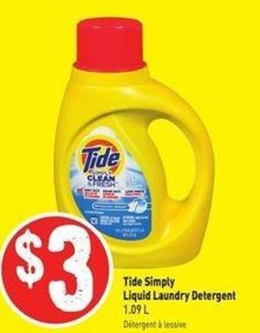 Tide Simply Liquid Laundry Detergent 1.09 L