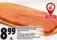 Fresh Atlantic Salmon Fillets Family Pack Min. 900 G Or Wild Caught Yellow Fin Tuna Steaks Frozen Or Previously Frozen - 1.99/100 G