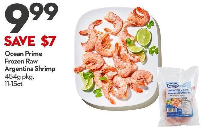 Ocean Prime Frozen Raw  Argentina Shrimp 454g Pkg 11-15ct
