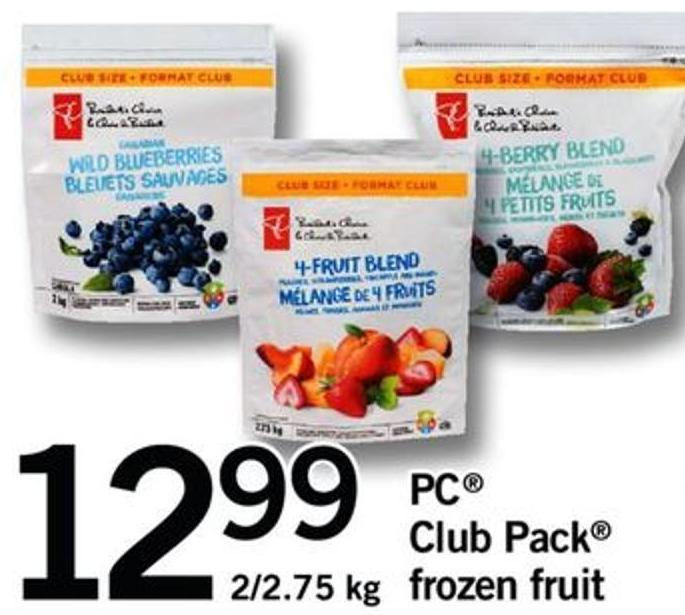 PC Club Pack Frozen Fruit - 2/2.75 Kg