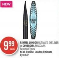 Rimmel London Ultimate Eyeliner or Covergirl Mascara