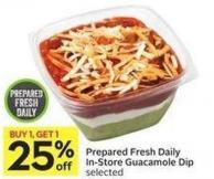 Prepared Fresh Daily In-store Guacamole Dip