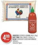 Rooster Scented Jasmine Rice (2kg) - Huy Fong Chili Sauce (740ml) or Heinz Seriously Good Mayonnaise (800ml)